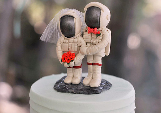 Astronaut wedding cake topper
