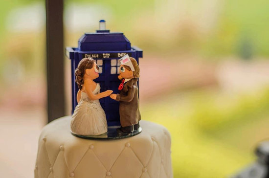 Dr who wedding cake topper