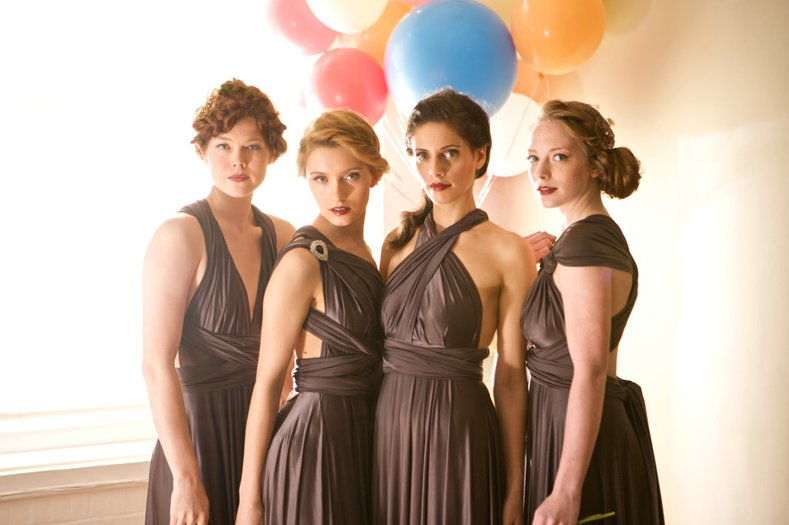 smoky brown convertible bridesmaid dresses