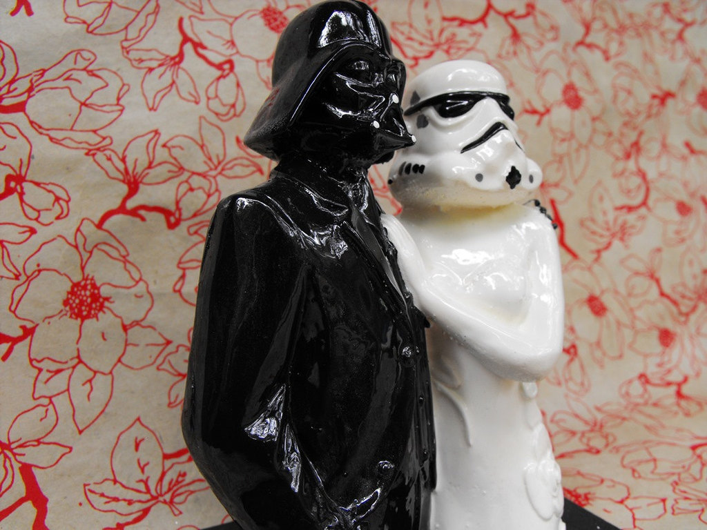 Wars bride and groom wedding cake topper star wars bride and groom wedding cake topper junglespirit Gallery