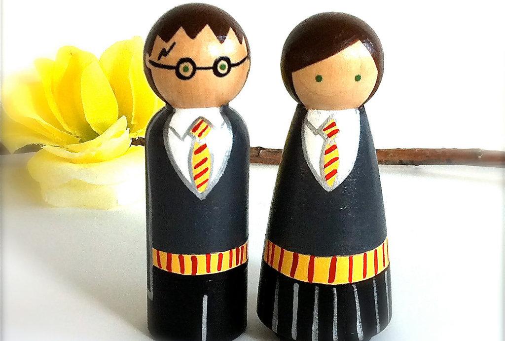 Handmade Harry Potter Wedding Cake Toppers