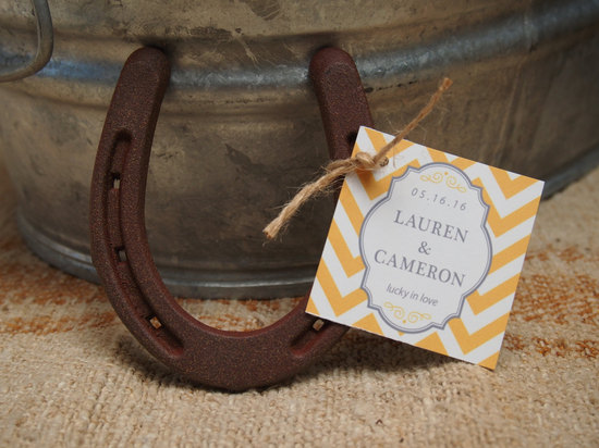 Wild west themed wedding favors