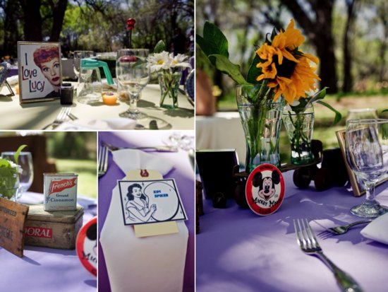 Fun and offbeat 1950's-inspired real wedding in Arizona