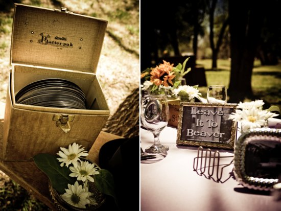 Retro-inspired 1950's wedding reception decor