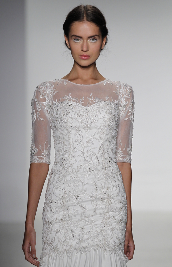 Beaded Sleeves Wedding Dress