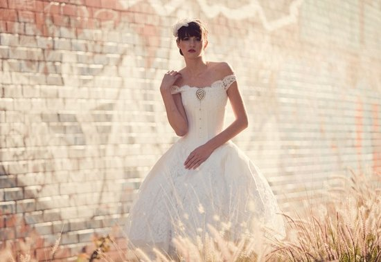 Joan Shum romantic wedding dress
