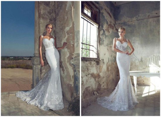 lace mermaid wedding dress with corset bodice