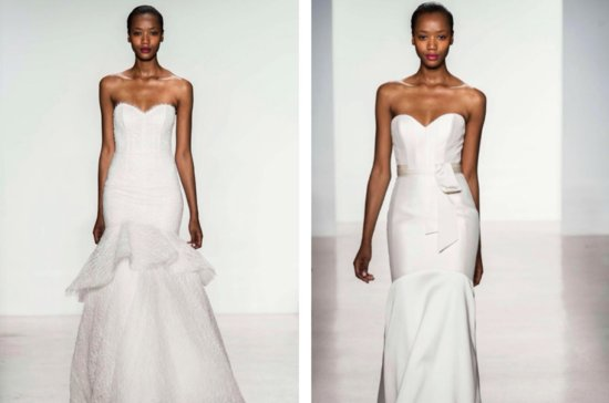 Amsale corset wedding gowns Fall 2014 bridal