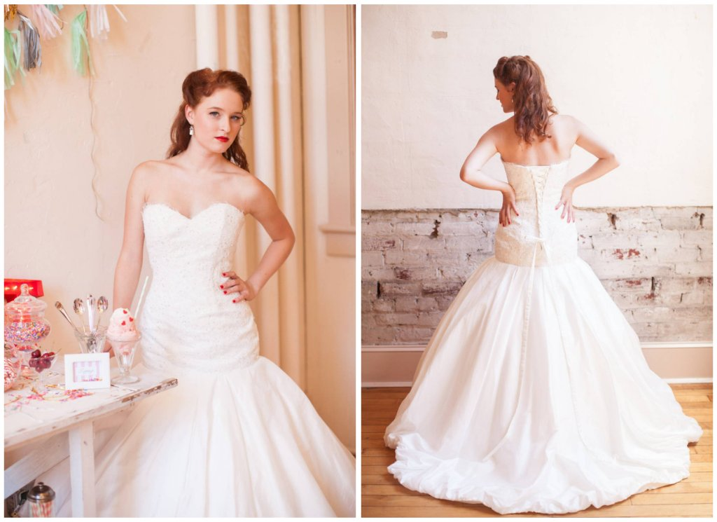 lace drop waist mermaid wedding dress with corset