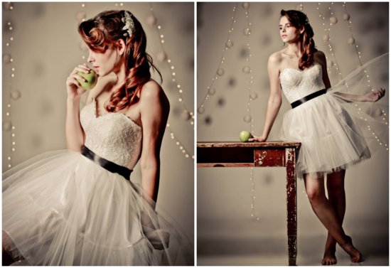 Corset bodice lace and tulle LWD