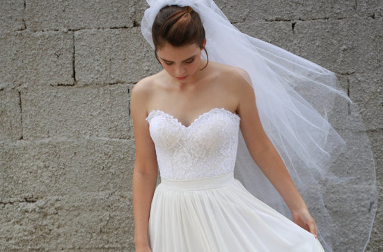 French lace corset wedding gown