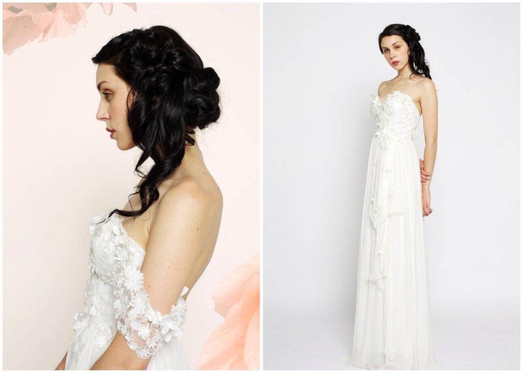 bohemian lace corset wedding dress