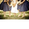 Retro-wedding-dress-navy-bridesmaids-dresses-tea-length.square