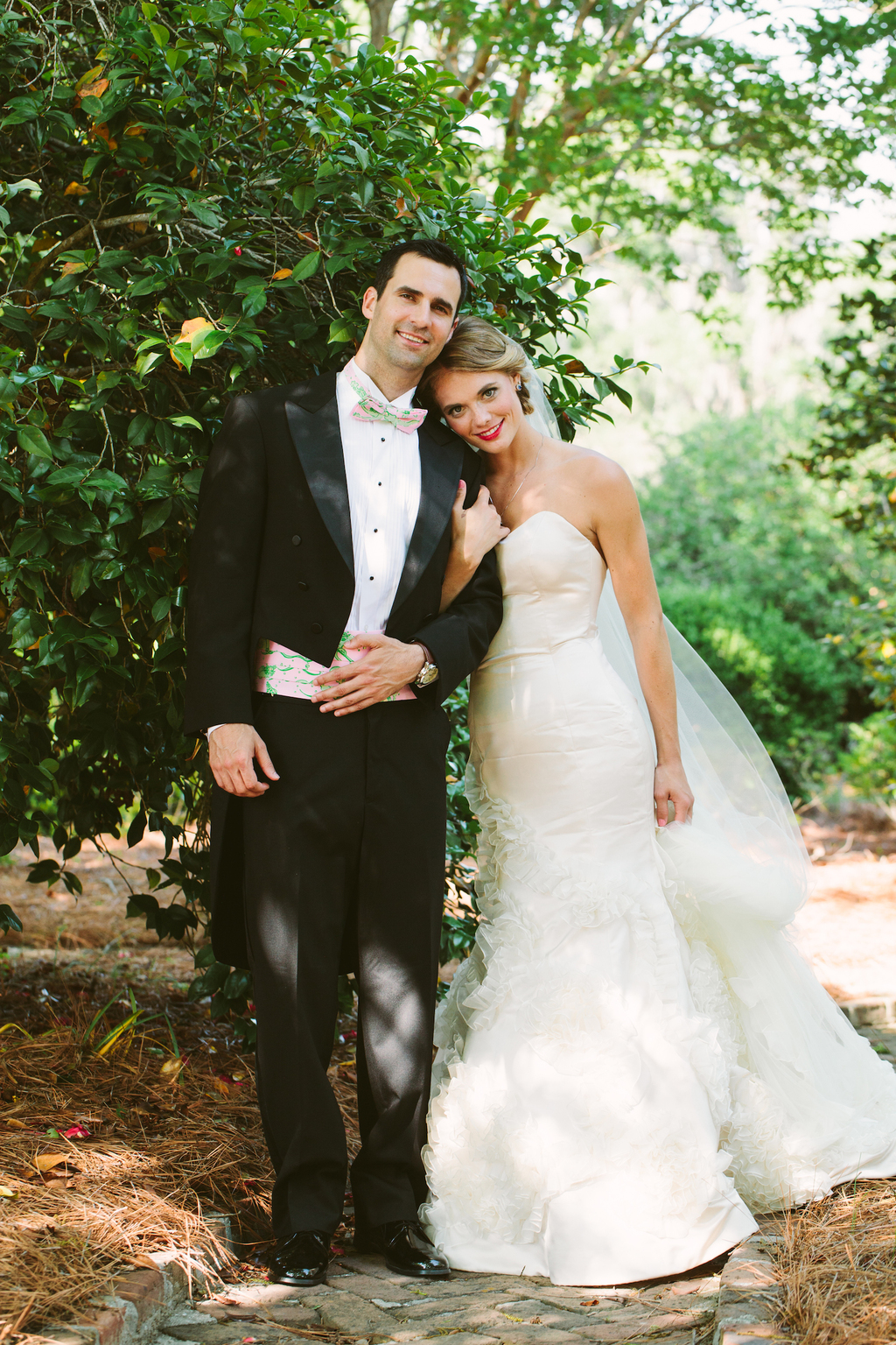 Classic wedding perfection from the elegant bride and groom