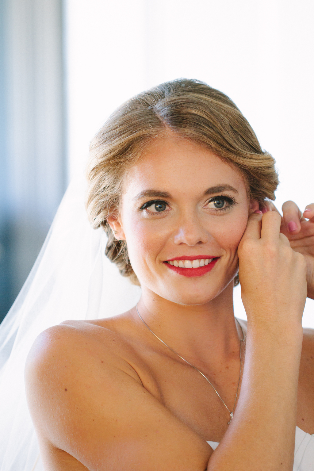 Beautiful classic wedding day hair and makeup