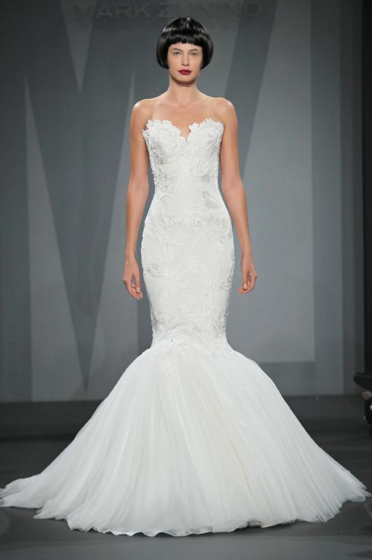 Mark zunino wedding dress for kleinfeld fall 2014 bridal 9 for Kleinfeld wedding dress designers