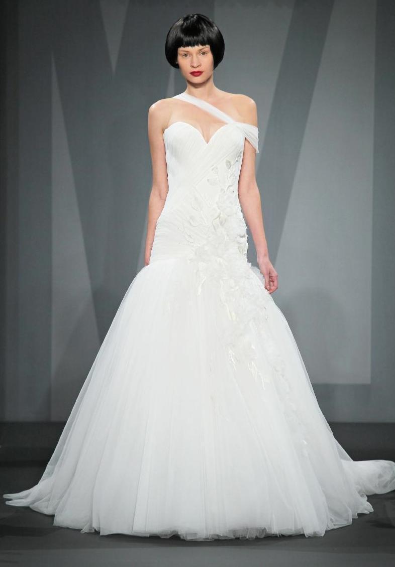 Mark zunino wedding dress for kleinfeld fall 2014 bridal 10 for Kleinfeld wedding dress designers