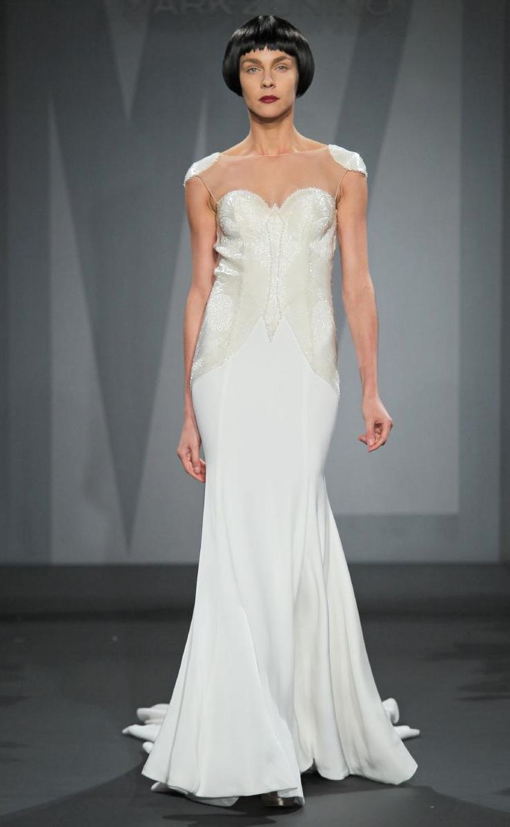 Mark zunino wedding dress for kleinfeld fall 2014 bridal 13 for Kleinfeld wedding dress designers