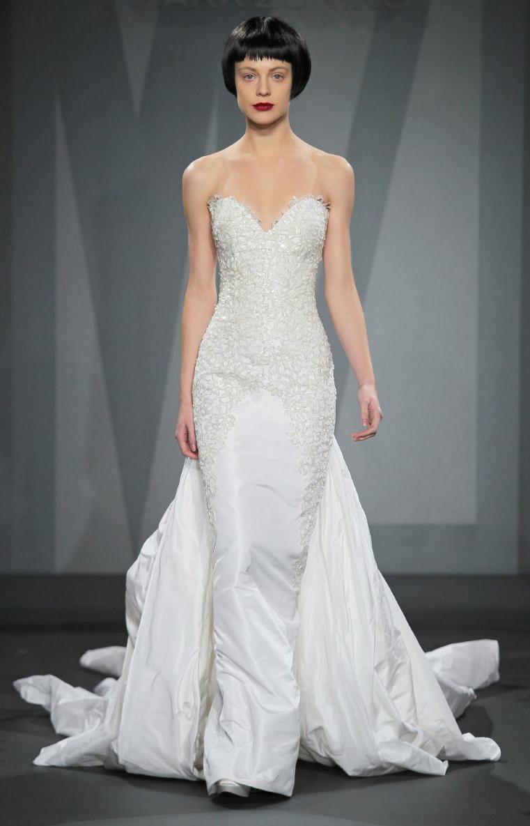 Mark zunino wedding dress for kleinfeld fall 2014 bridal for Kleinfeld wedding dress designers