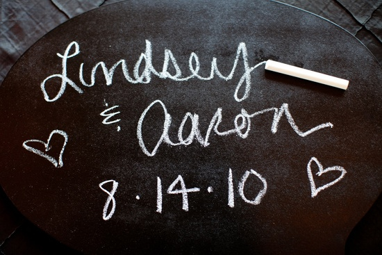 Chalkboard chic real wedding in New York City