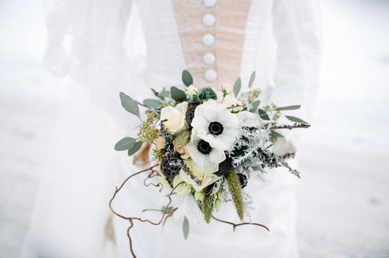 photo of Winter Alice in Wonderland wedding