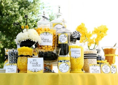 yellow candy station