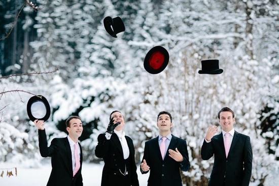 Winter Alice in Wonderland themed wedding grooms style