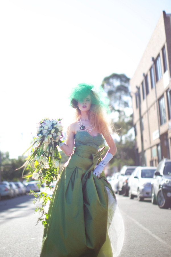 Green on green wedding style