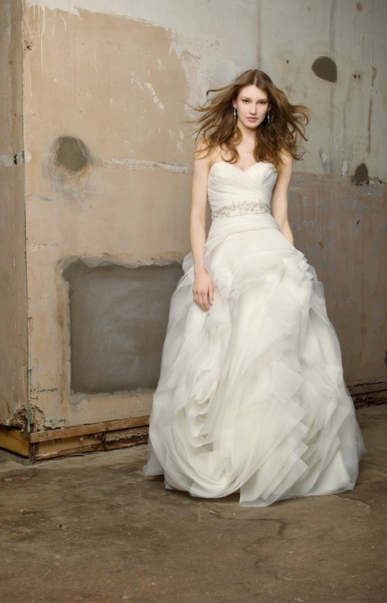 Ivory princess wedding dress with embellished belt