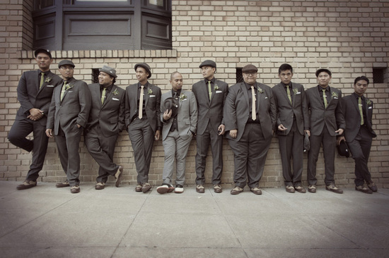 photo of Speakeasy wedding theme grooms attire