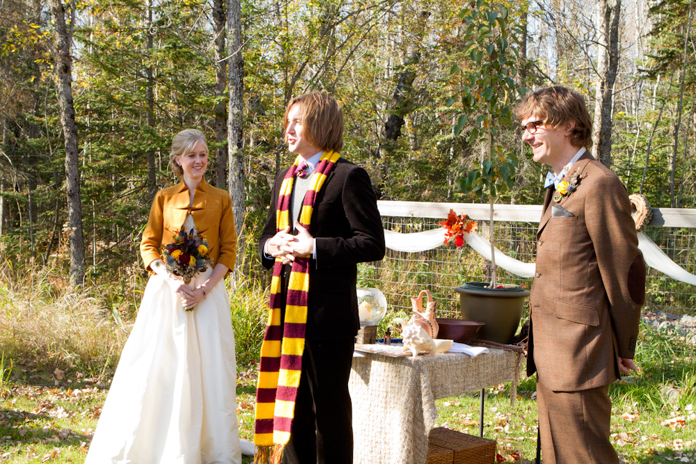 Real Wedding With Officiant Dressed As Harry Potter