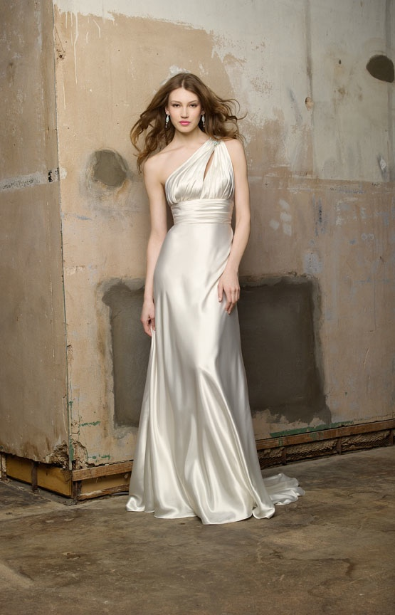 Sultry silk modified a line wedding dress for Silk a line wedding dresses