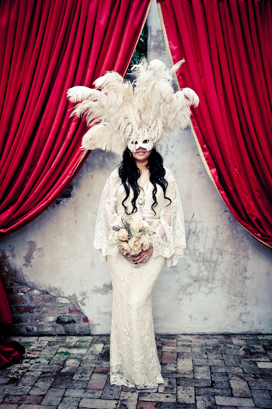 New Orleans Masquerade wedding