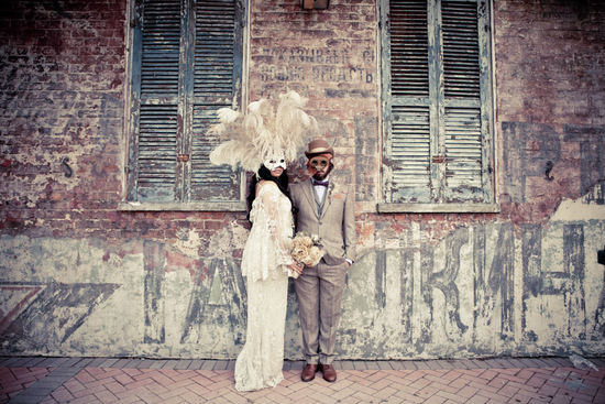 photo of rad masquerade wedding in New Orleans