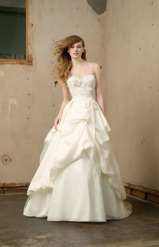 Princess wedding dress with embellished corset bodice