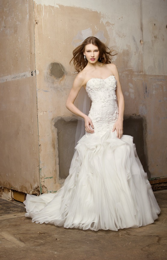 Ivory Drop Waist A Line Wedding Dress