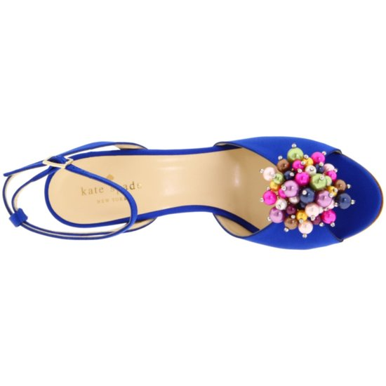 Something blue bridal shoes by Kate Spade