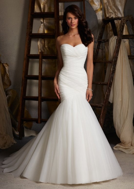 Strapless Mermaid Trumpet Wedding Dress