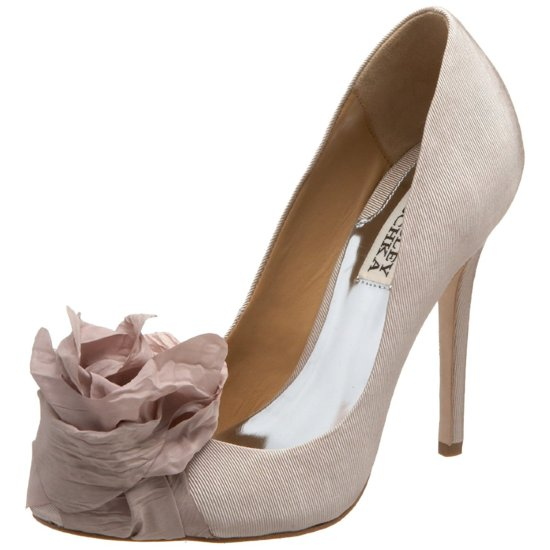 photo of Nude Vivienne Westwood funky wedding shoes