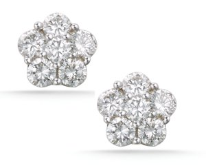 photo of Platinum stud earrings for your bridesmaids