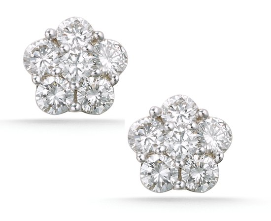 Platinum stud earrings for your bridesmaids