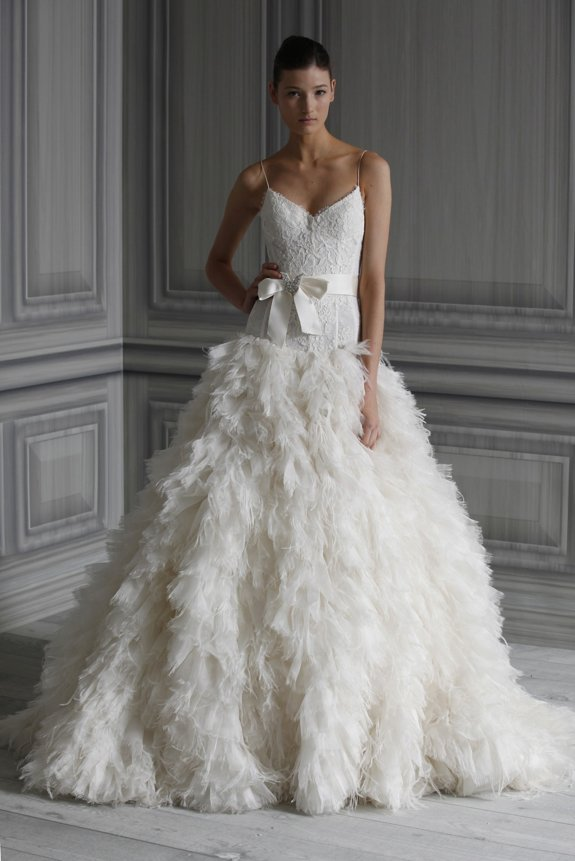 Glamourous ballgown wedding dress by Monique Lhuillier