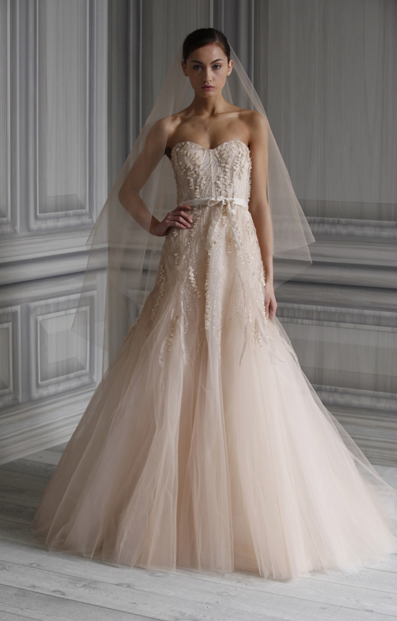 Images Of Blush Wedding Dresses : Wedding dress monique lhuillier bridal gowns spring candy