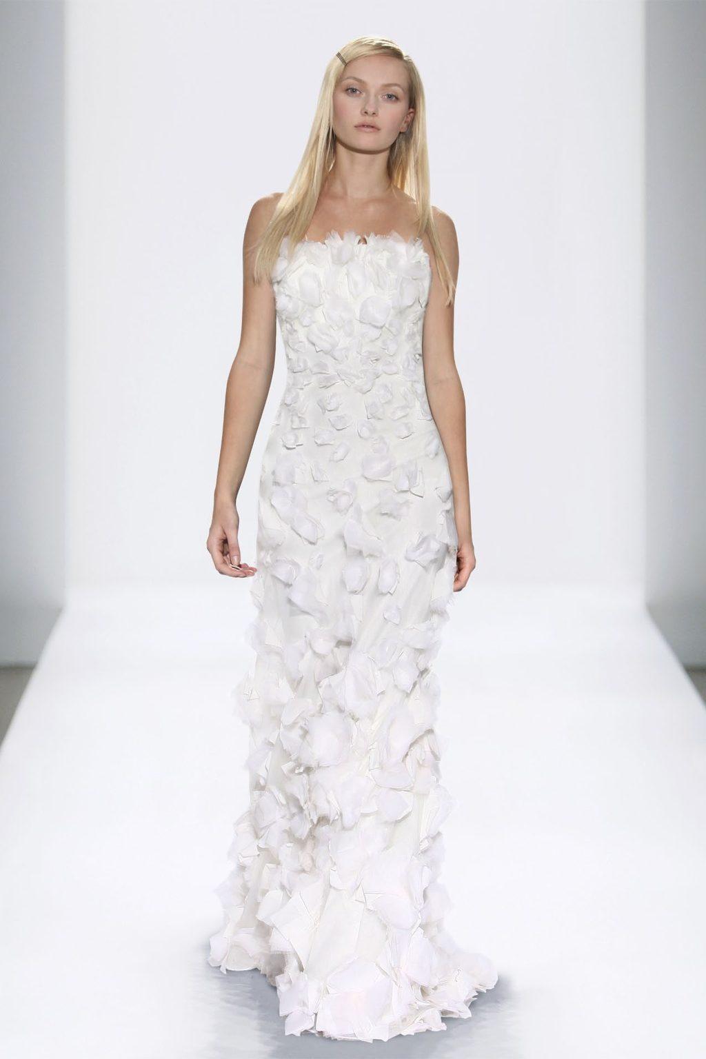 3D embellished white bridal gown