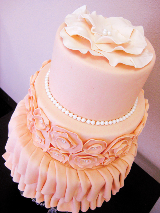 Ivory Winter Wedding Cake