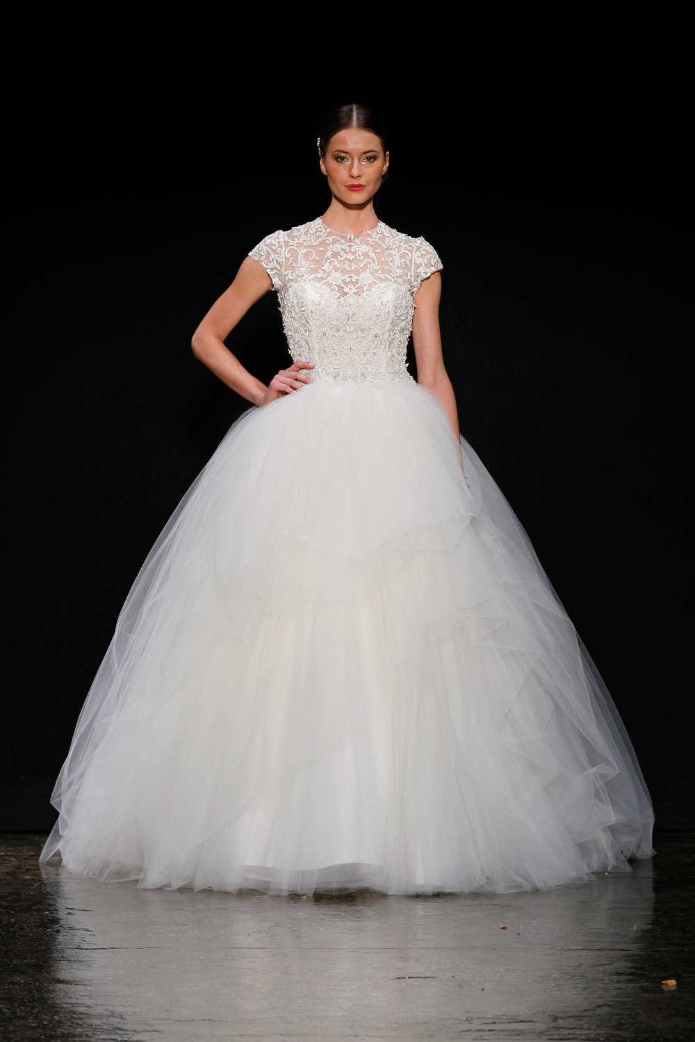3407 wedding dress by lazaro spring 2014 bridal for Where to buy lazaro wedding dresses