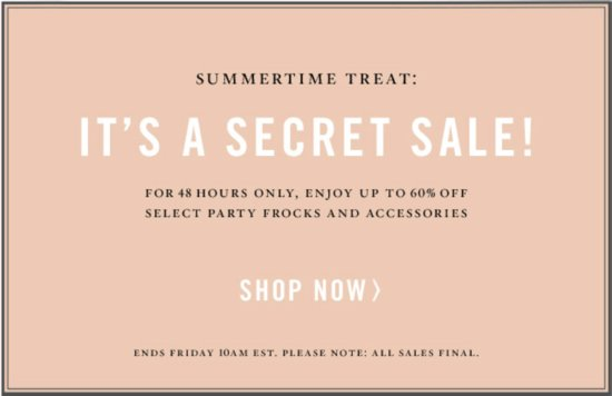 BHLDN's first secret sale is here, 48 hours of HUGE savings!