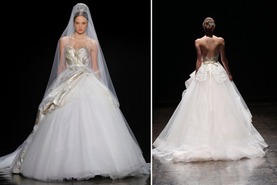 Lazaro Spring 2014 wedding dresses