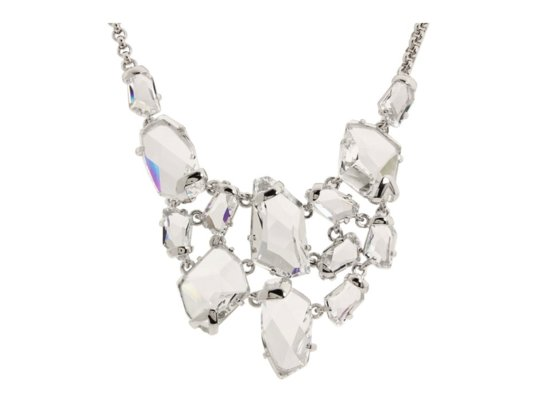 Crystal statement wedding necklace