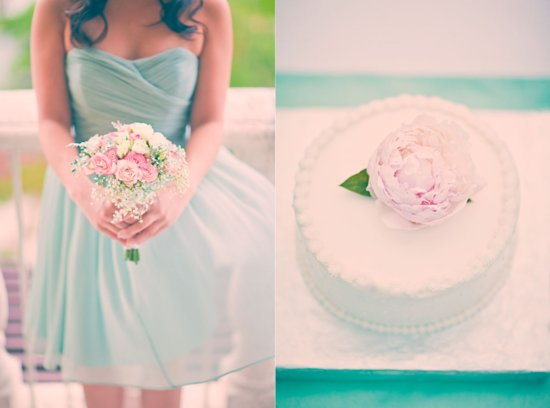 Mint rose turquoise wedding colors for romantic brides